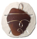 Brown Sea Glass Pendant